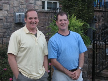 David Carnahan (left) with Programmer Dave Daniels (right) who recently celebrated his 25th year with Mainstreet.